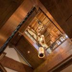 Beaver-Creek-mountain-modern-custom-stair-case-with-custom-chandilier