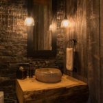 Beaver-Creek-mountain-modern-powder-room-log-vanity